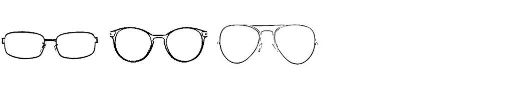 Runde und ovale Brillenformen schmeicheln dem dreieckigen Gesicht