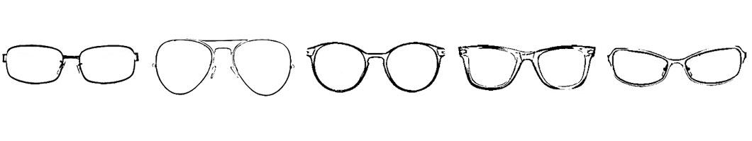 Wer ein ovales Gesicht hat, kann alle Brillenformen tragen