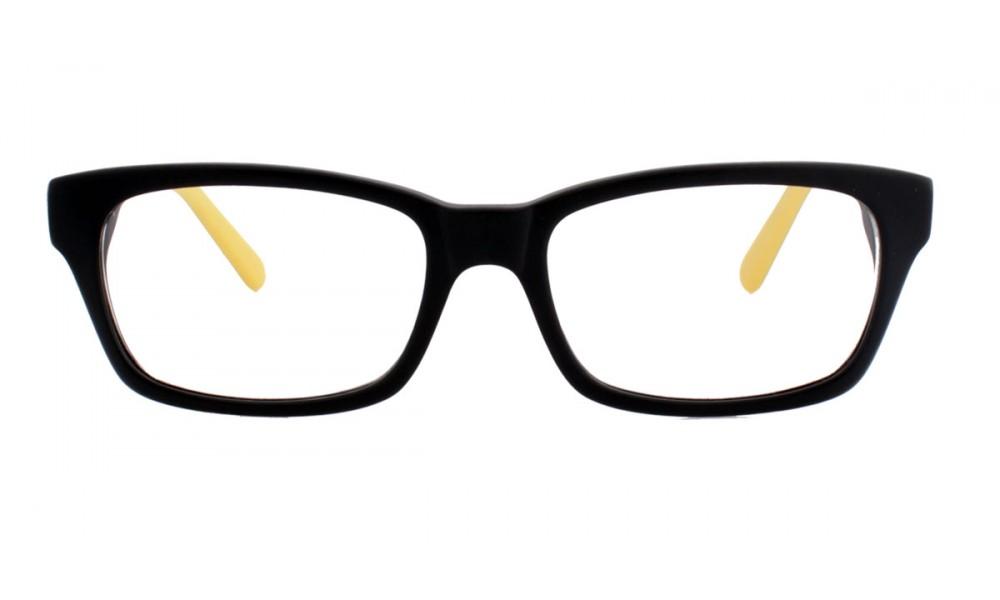 acetat lesebrille mit gelben details strike eyewear. Black Bedroom Furniture Sets. Home Design Ideas
