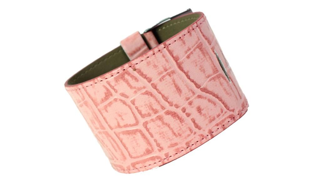 Armband KROKO rosa