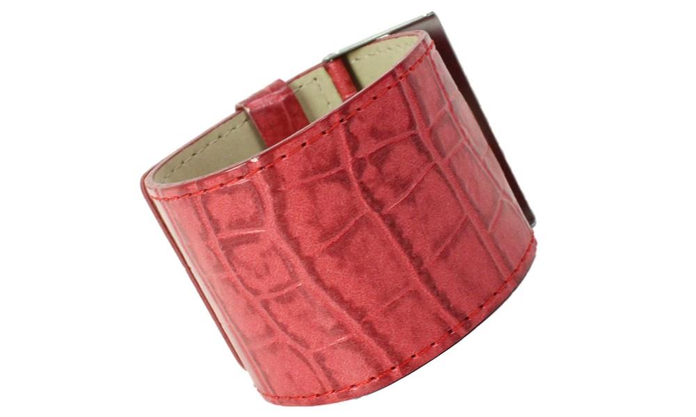 Armband KROKO rot