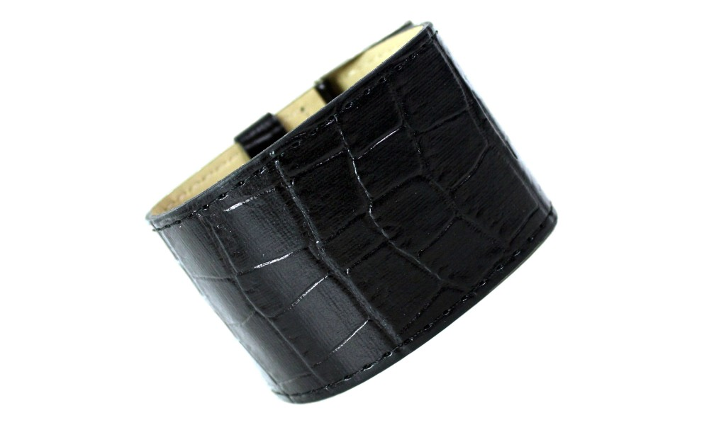 Armband KROKO schwarz