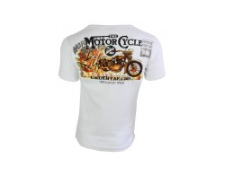 T-Shirt MOTOR CYCLE weiß