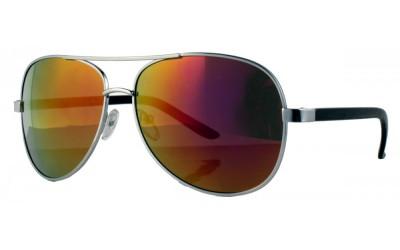 Strike Pilotenbrille / Sonnenbrille blau verspiegelte Gläser D8BTglK