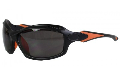 Sportbrille 206 matt schwarz - orange