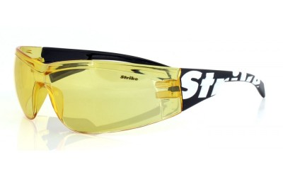 Strike Sportbrille / Sonnenbrille / Radbrille 195 gelb, Carbon Style