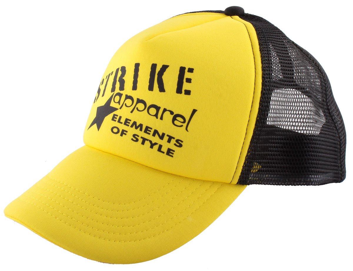 STRIKE APPAREL Basecap gelb schwarz