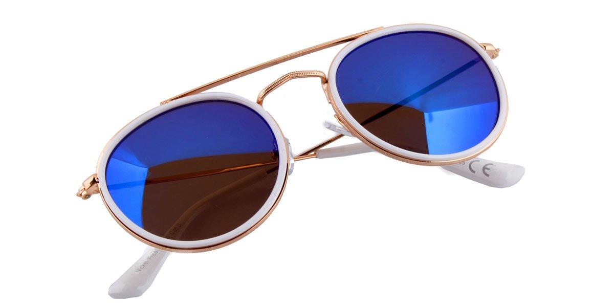 Sonnenbrille weiß gold