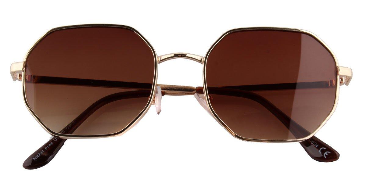 Geometrische Sonnenbrille braun