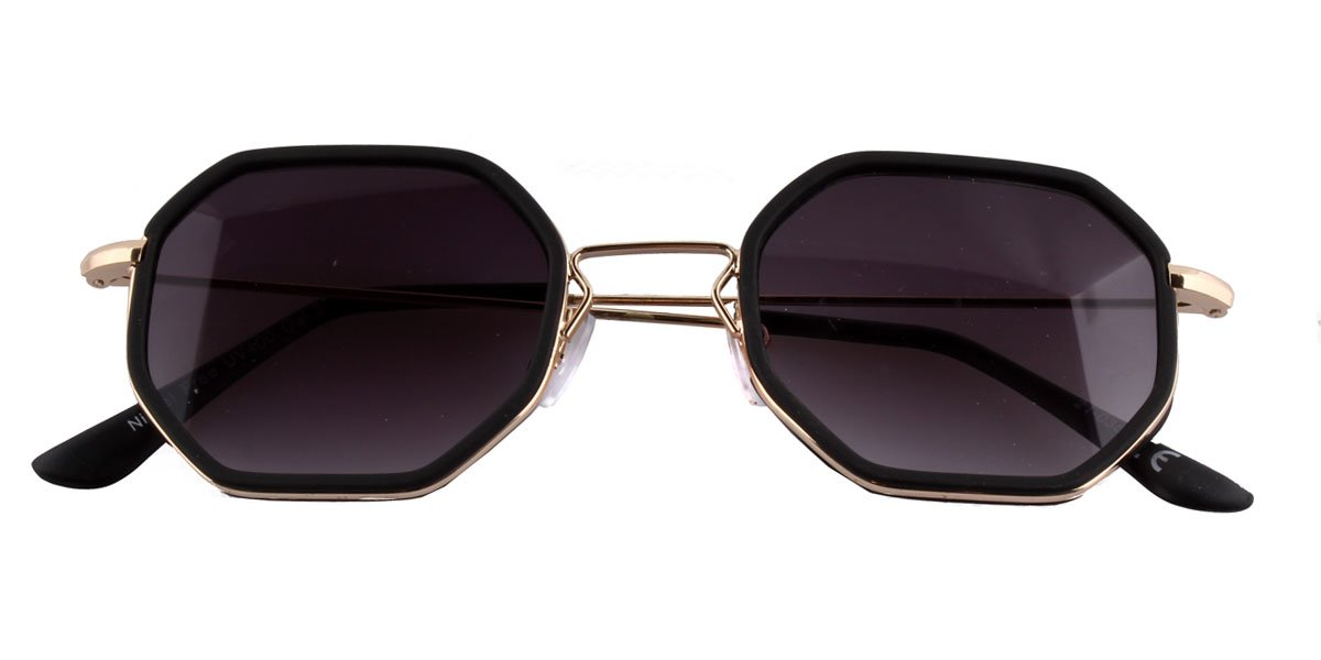 Geometrische Sonnenbrille schwarz