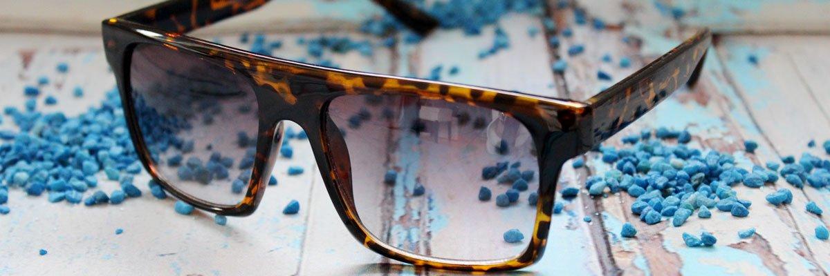 Sonnenbrille mit gerader Oberkante