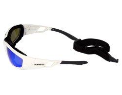 Sportbrille 203 weiß mit abnehmbarem Kopfband