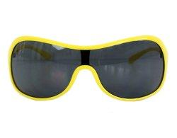 Oversize Sonnenbrille gelb