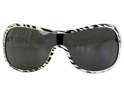 Oversize Sonnenbrille zebra