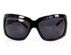 Oversize Sonnenbrille schwarz