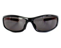 Sportbrille 230 schwarz mit orangefarbener Innenseite
