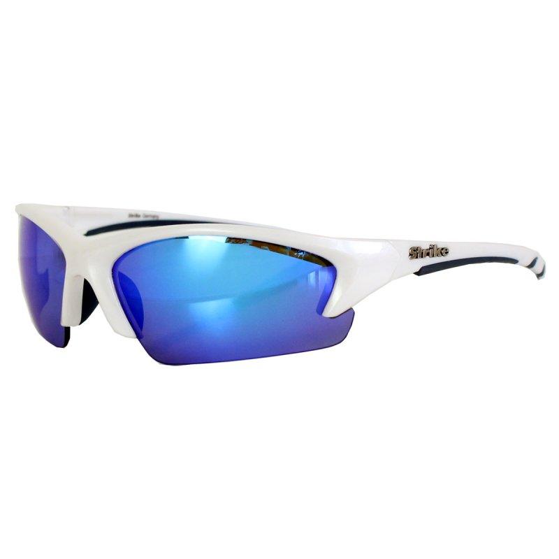 Radbrille 233 weiß verspiegelt blau