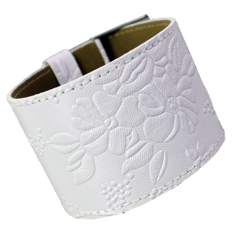 Armband FLOWERS weiß