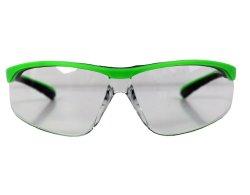 Radbrille 243 neon grün mit klaren Gläsern