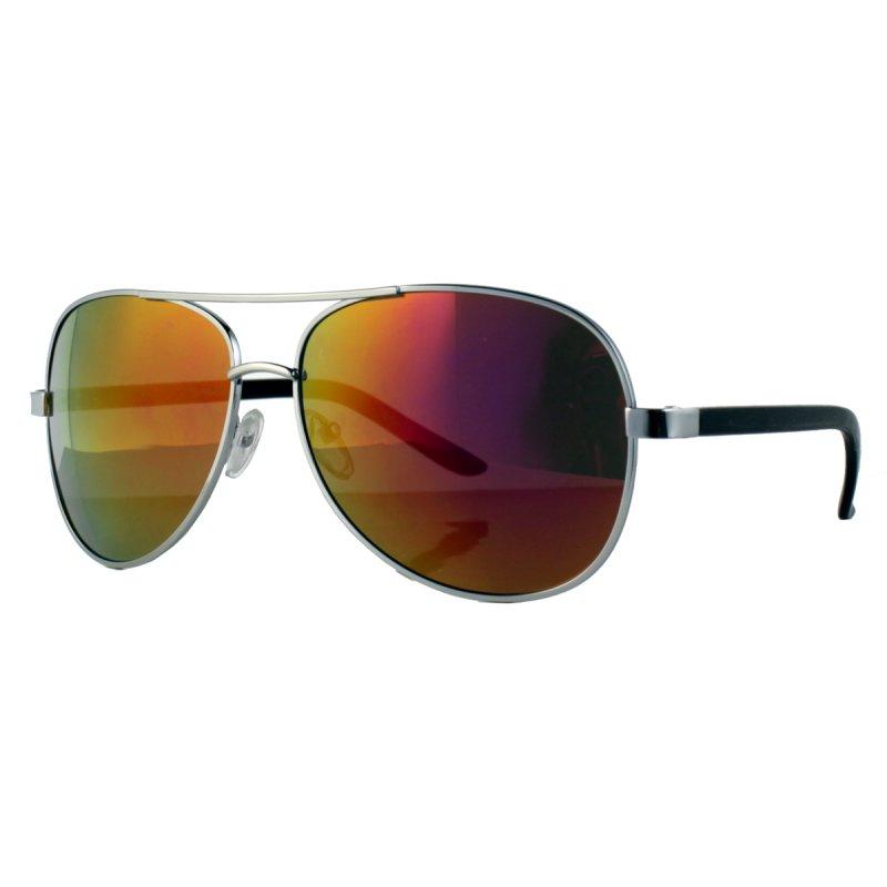 Pilotenbrille mit orange verspiegelten Gläsern