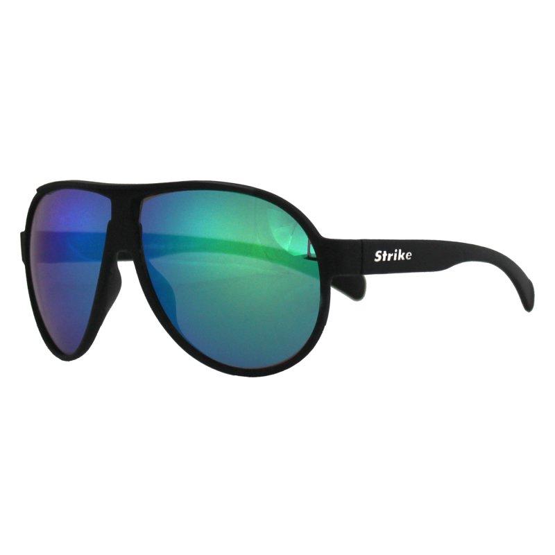 Sonnenbrille 242 matt schwarz verspiegelt grün