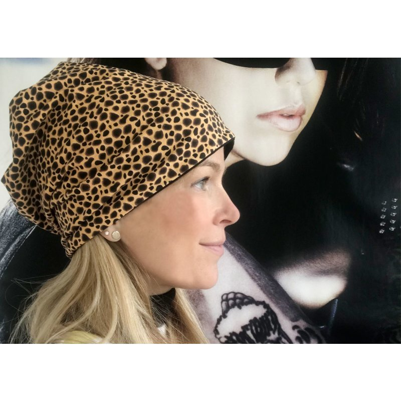 Beanie Mütze im Leoparden Look
