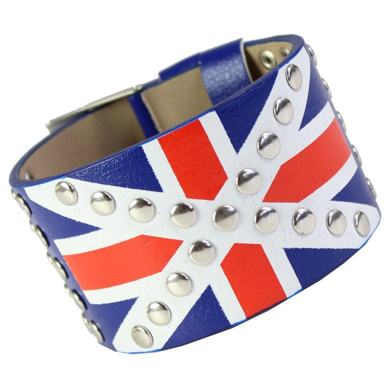 Armband UNION JACK in Leder Optik