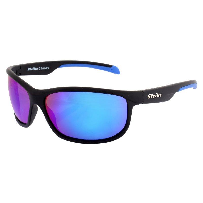 Sportbrille 256 schwarz - blau verspiegelt