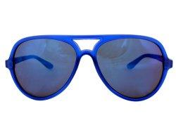 Retro Sonnenbrille blau verspiegelt
