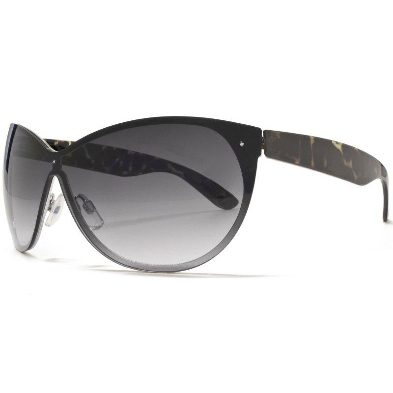 Cateye Sonnenbrille mit grün gesprenkelten Bügeln