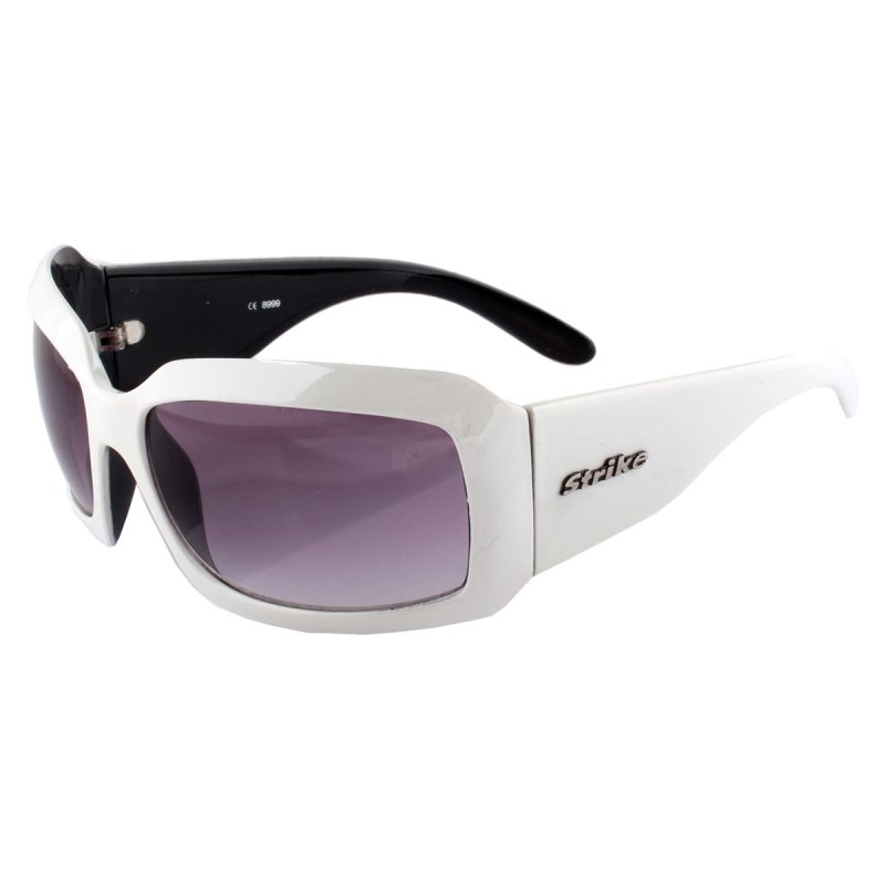 Sonnenbrille mit breitem weißem Rahmen