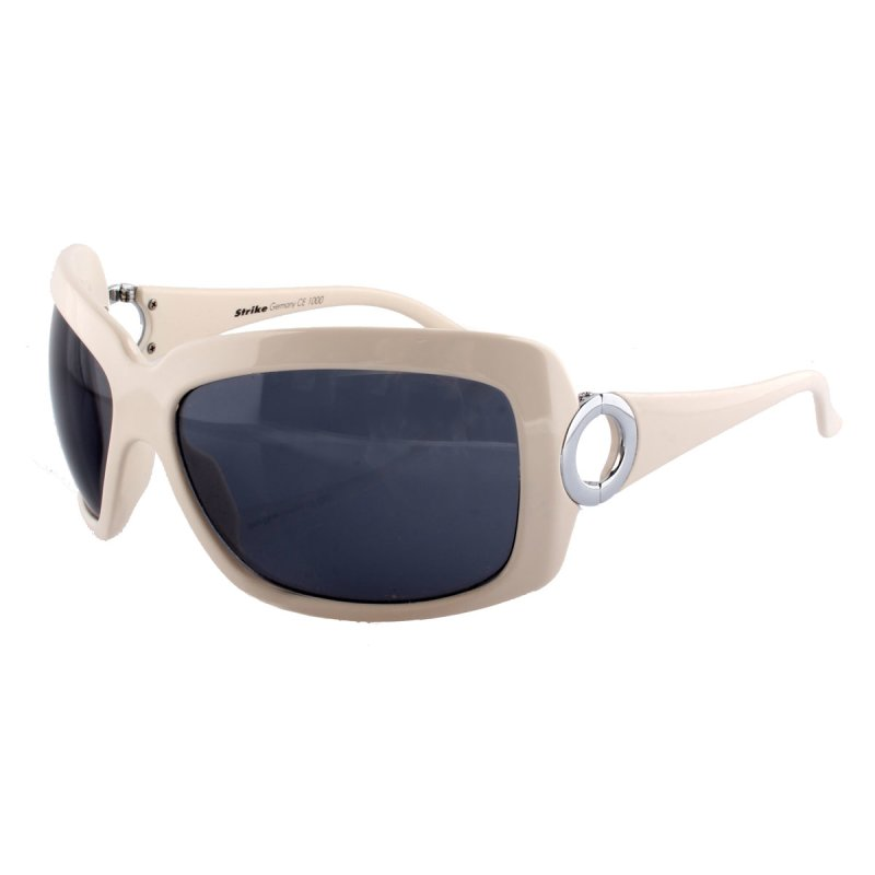 Sonnenbrille mit markantem weißem Rahmen