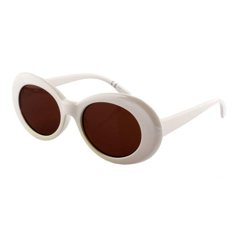 Sonnenbrille in Schmetterlingsform weiß