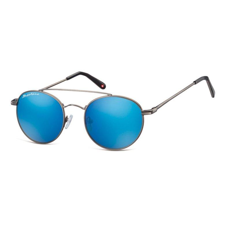 Sonnenbrille mit blau verspiegelten Gläsern