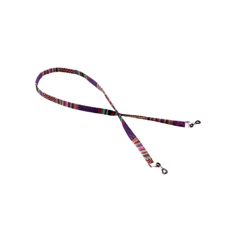 Brillenband mit Azteken-Muster violett